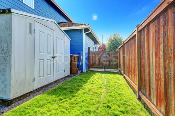 Small backyard area with shed Stock photo © iriana88w