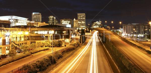 Centrum nacht snelweg rechter huis centrum Stockfoto © iriana88w