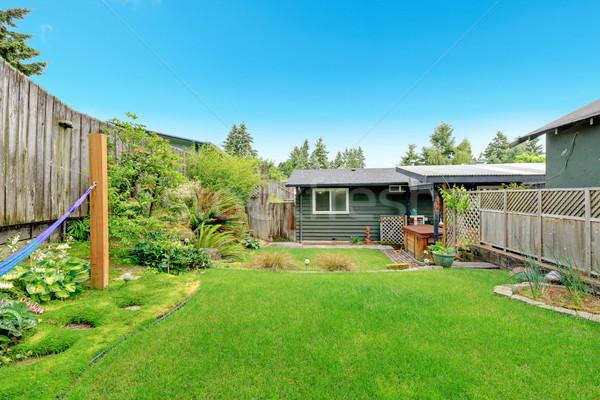 House with fenced backyard  Stock photo © iriana88w