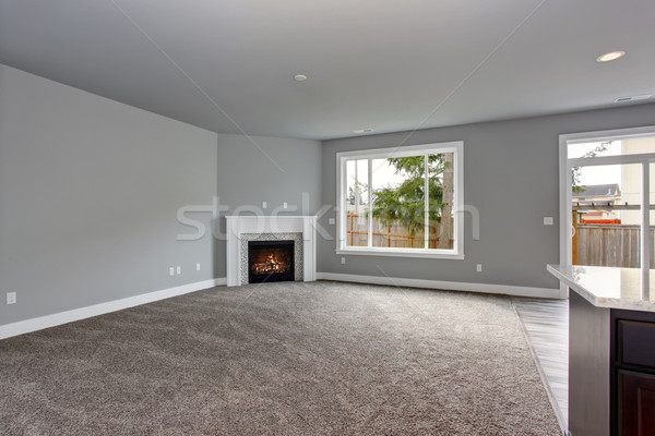 Modern szürke belső otthon bútorozatlan luxus Stock fotó © iriana88w