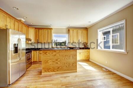 Madeira de lei sala de estar lareira entrada casa textura Foto stock © iriana88w