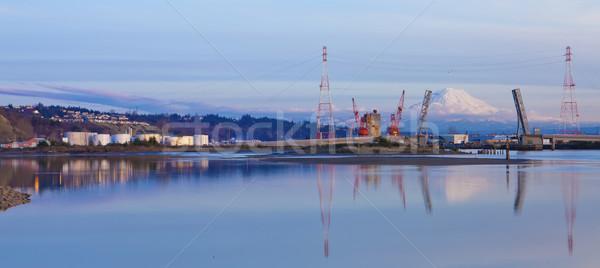 Haven olie bergen Open verdubbelen brug Stockfoto © iriana88w