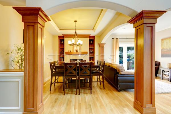 Luxo casa interior sala de jantar coluna arco Foto stock © iriana88w