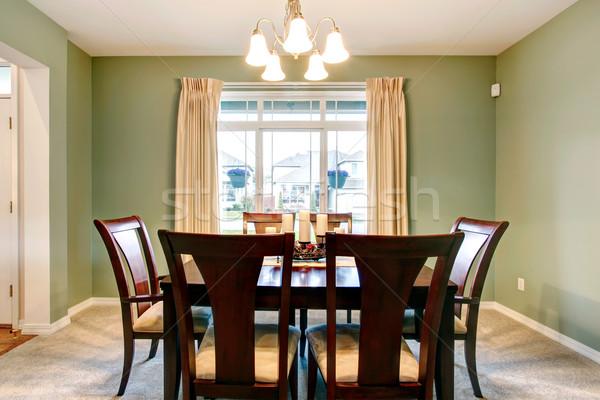 Verde comedor interior clásico marrón muebles Foto stock © iriana88w