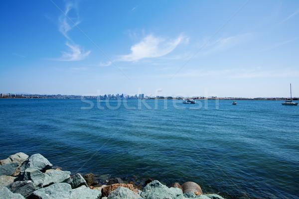 Сан-Диего Skyline океана небе здании Сток-фото © iriana88w