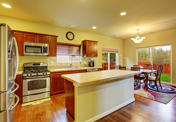 Classic kitchen with hardwood floor. Stock photo © iriana88w