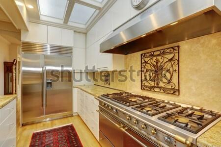 Vuota stanza camino legno duro bianco Foto d'archivio © iriana88w