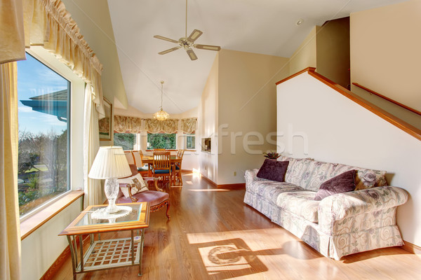 Modern entry way with stairs and hardwood floor. Stock photo © iriana88w