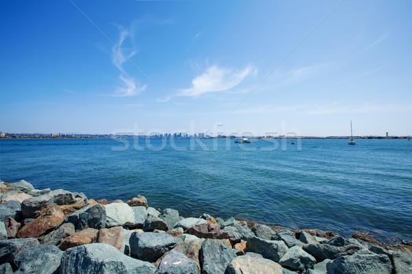 San Diego linha do horizonte beira-mar oceano céu edifício Foto stock © iriana88w