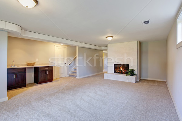 New living room with  carpet and fire place. Stock photo © iriana88w