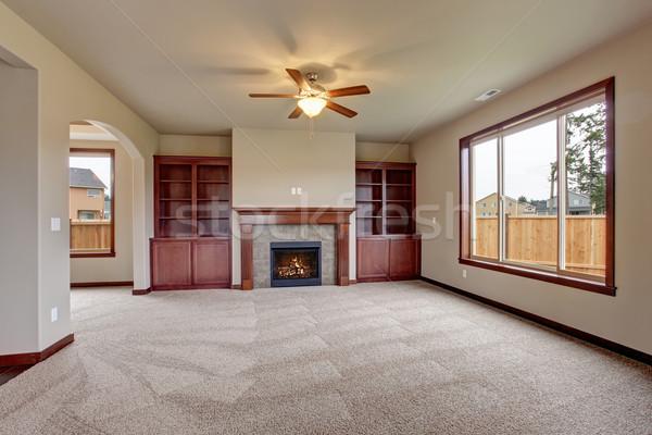 Bútorozatlan nappali szőnyeg foltos fa fény Stock fotó © iriana88w