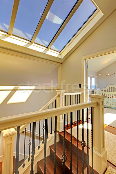 Staircase with skylight and baby room. Stock photo © iriana88w