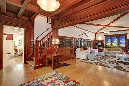 Open moderne luxe home interieur woonkamer Stockfoto © iriana88w