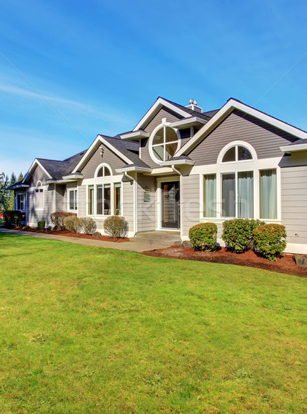Luxury northwest home with large lawn. Stock photo © iriana88w