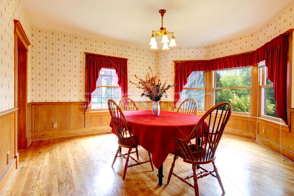 Stock photo: Dining room in old house