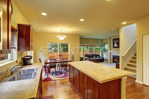 Classic kitchen with hardwood floor. Stock photo © iriana88w