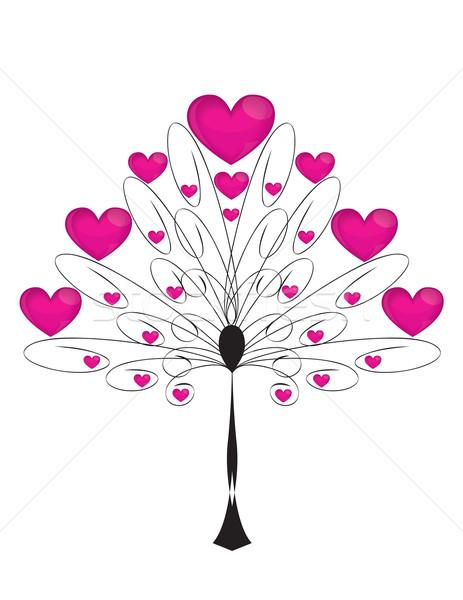 Szeretet fa szívek nagy ünnep természet Stock fotó © Irinavk