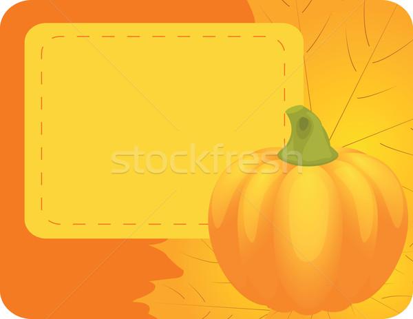 Naranja calabazas hojas papel diseno Foto stock © Irinavk
