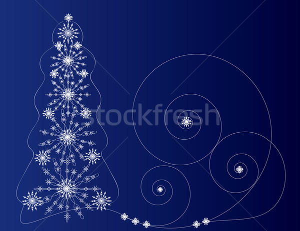 fir-tree dark blue Stock photo © Irinavk