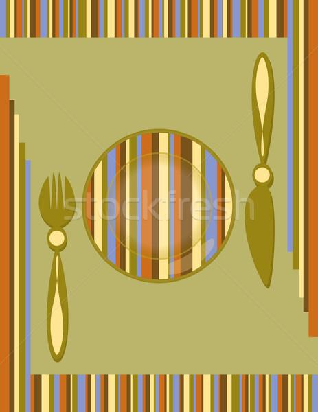 Eredeti asztal szett regisztráció menü étel Stock fotó © Irinavk