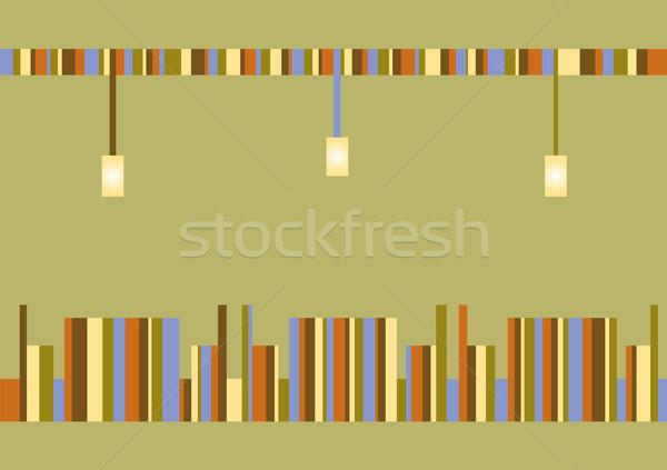 Absztrakt kép kávézó zöld étterem csoport Stock fotó © Irinavk