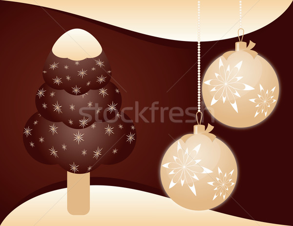 Navidad helado alimentos chocolate fondo leche Foto stock © Irinavk