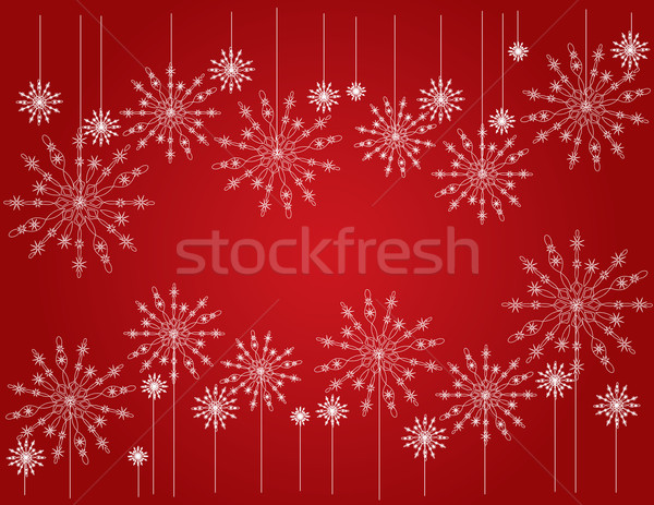 snowflake red Stock photo © Irinavk