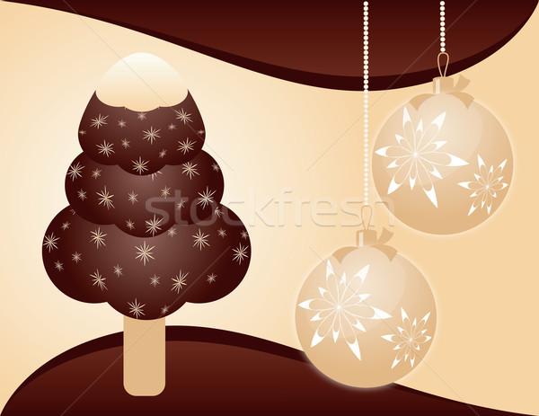 Karácsony fagylalt étel csokoládé háttér tej Stock fotó © Irinavk