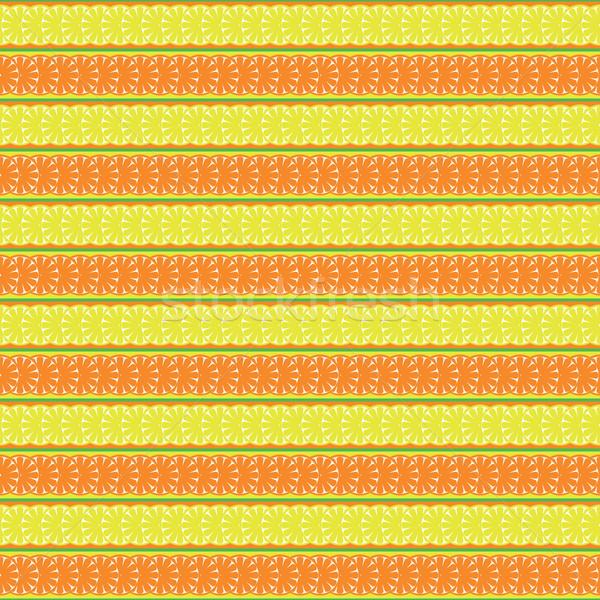 Végtelen minta citrom narancs absztrakt levél textúra Stock fotó © Irinavk