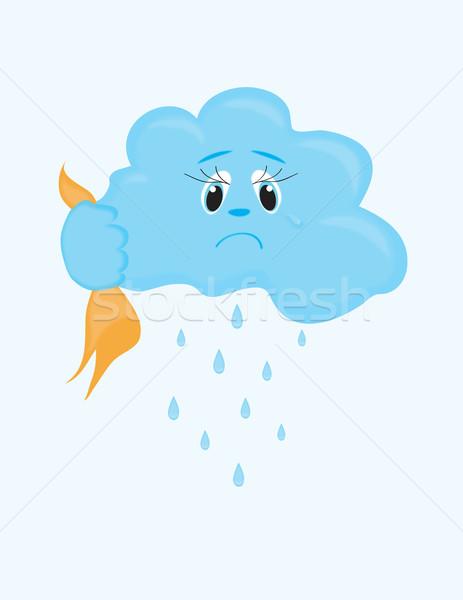 Felhő esik az eső égbolt művészet kék csoport Stock fotó © Irinavk