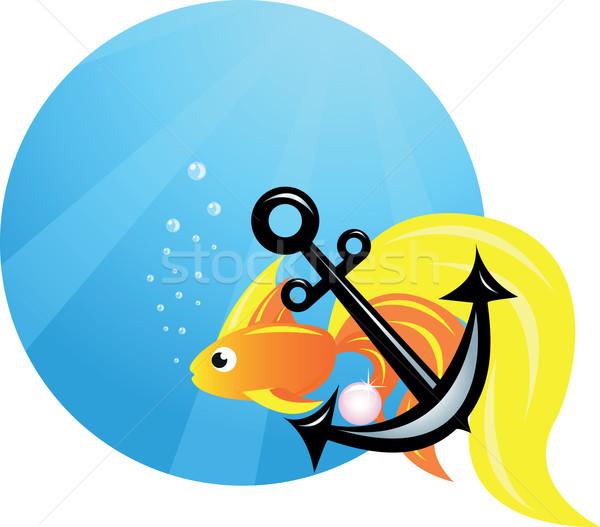 Foto stock: Mar · océano · peces · ancla · agua · vida