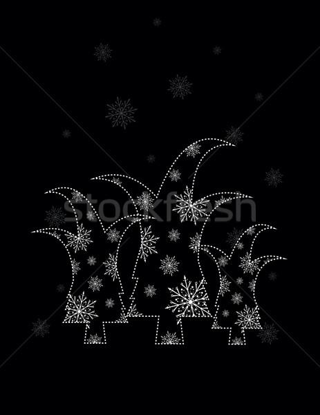 Karácsony absztrakt hó tél ünnep grafikus Stock fotó © Irinavk