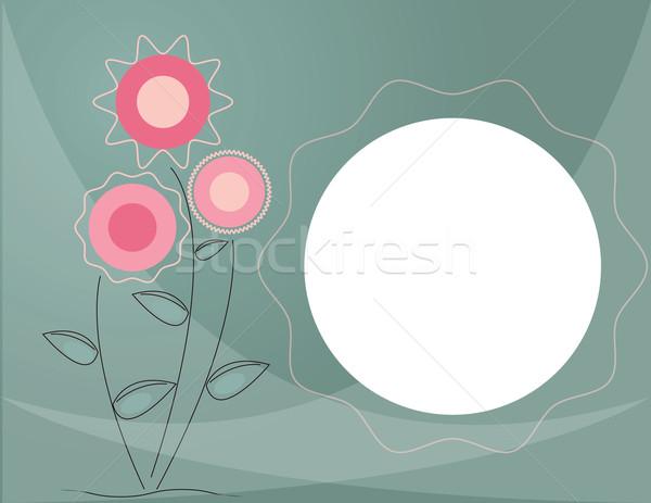 Háttér virágok senki szöveg absztrakt terv Stock fotó © Irinavk