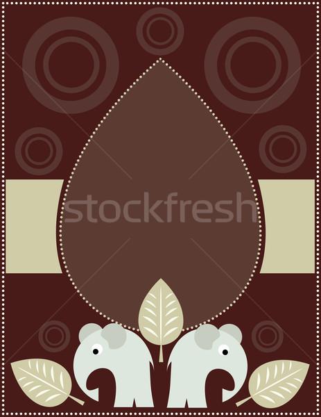 Tea szürke elefánt levél háttér keret Stock fotó © Irinavk