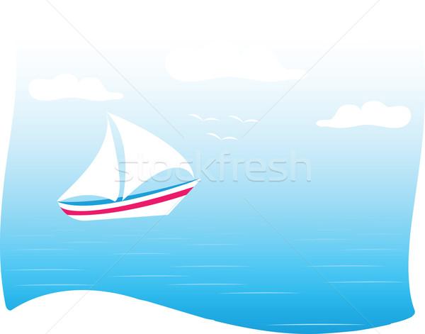 Tenger jacht óceán nagy fehér számítógép Stock fotó © Irinavk