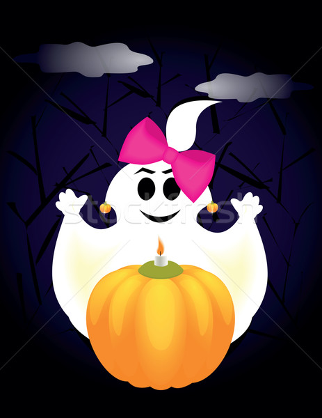 ghost on halloween stock photo irinavk