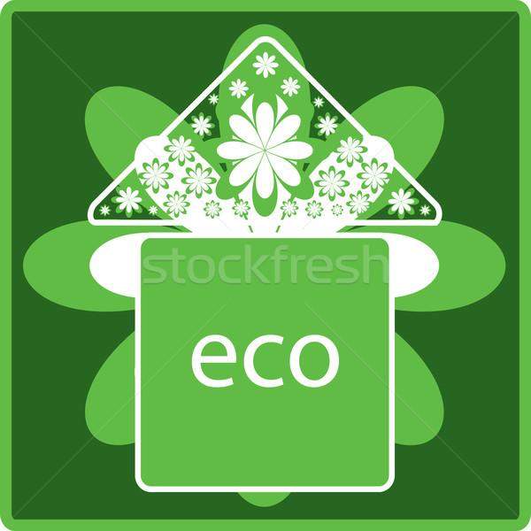 ökológia ikon zöld virágok természet Stock fotó © Irinavk