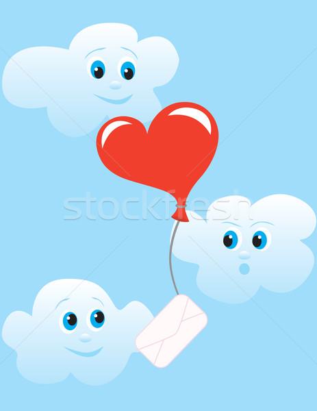 Szeretet levél labda szív Stock fotó © Irinavk