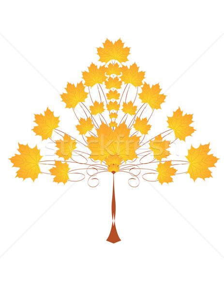ősz fa gyönyörű citromsárga levél absztrakt Stock fotó © Irinavk
