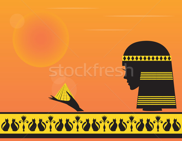 Vector illustrated Cleopatra Stock photo © Irinavk
