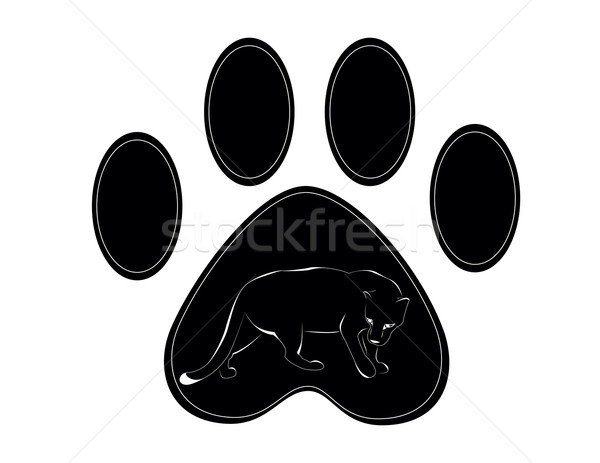 paw of panther Stock photo © Irinavk