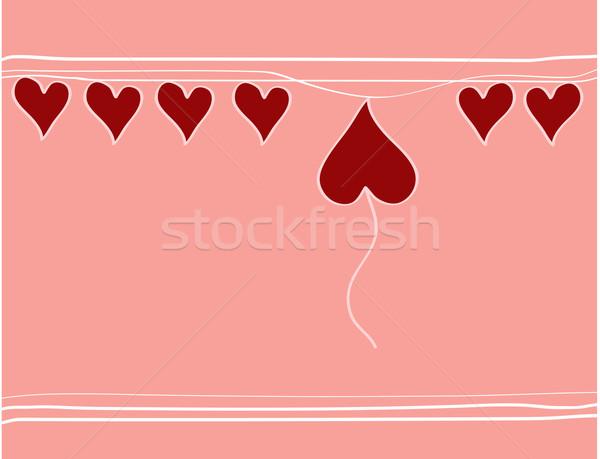 Szívek rózsaszín hátterek regisztráció csoport piros Stock fotó © Irinavk
