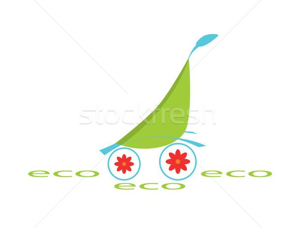 ökológiai logotípus zöld tárgy gyerekek Stock fotó © Irinavk