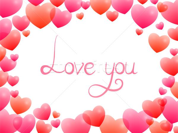 ロマンチックな フレーム カード 甘い 心 ストックフォト © Irinka_Spirid