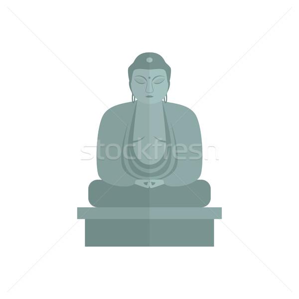 Buda yalıtılmış stilize gri taş heykel Stok fotoğraf © Irinka_Spirid