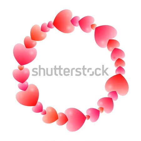 Romántica marco guirnalda corazones diferente Foto stock © Irinka_Spirid