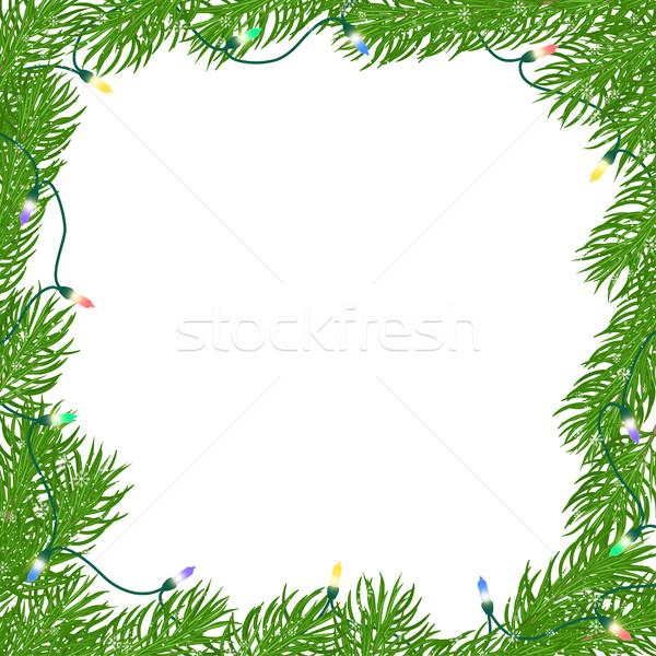 Foto d'archivio: Natale · piazza · frame · naturale · luminoso · verde