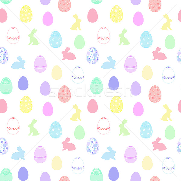 Pascua pintado huevos patrón brillante Foto stock © Irinka_Spirid