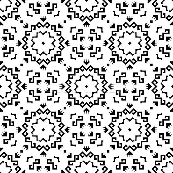 Foto d'archivio: Senza · soluzione · di · continuità · disegno · geometrico · geometrica · tradizionale · elementi