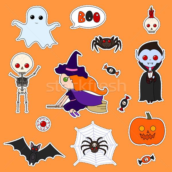 Conjunto Monstros Bonitinho Desenho Animado Variedade Halloween Ilustracao De Vetor C Irina Spiridonova Irinka Spirid 7931931 Stockfresh